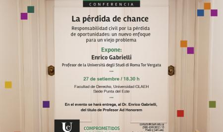 Conferencia a cargo de Enrico Gabrielli