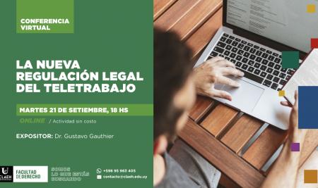 Conferencia virtual | La nueva regulación legal del teletrabajo
