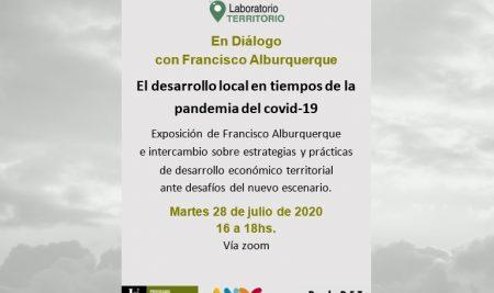 Video disponible: En Diálogo con Francisco Alburquerque. El desarrollo local en tiempos de covid-19.