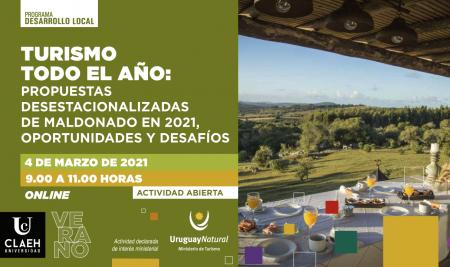 """Mesa redonda virtual """"Turismo todo el año: propuestas desestacionalizadas de Maldonado en 2021, oportunidades y desafíos"""""""