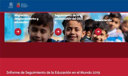 Informe de seguimiento de la educación mundial 2019. UNESCO