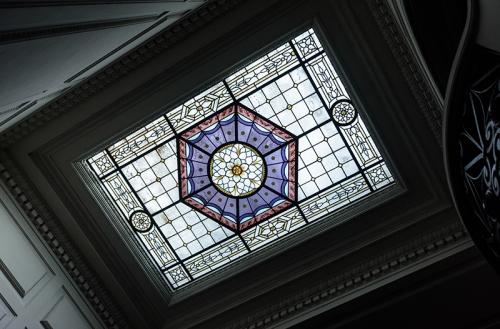 El vitraux del segundo piso