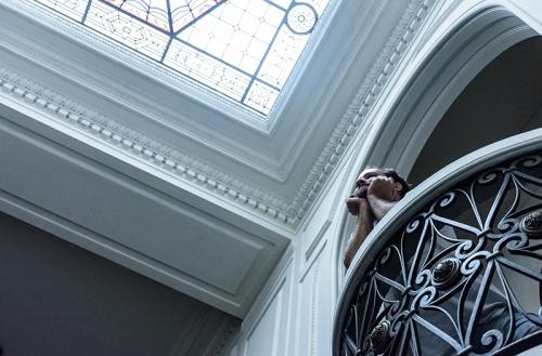 El balcón del segundo piso