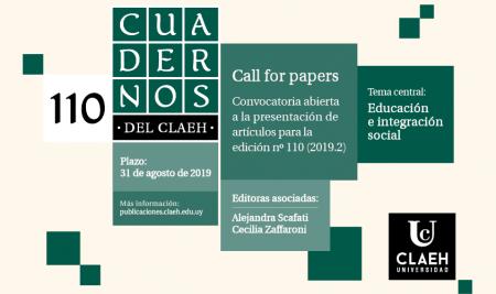 Cuadernos del CLAEH llama a la presentación de artículos